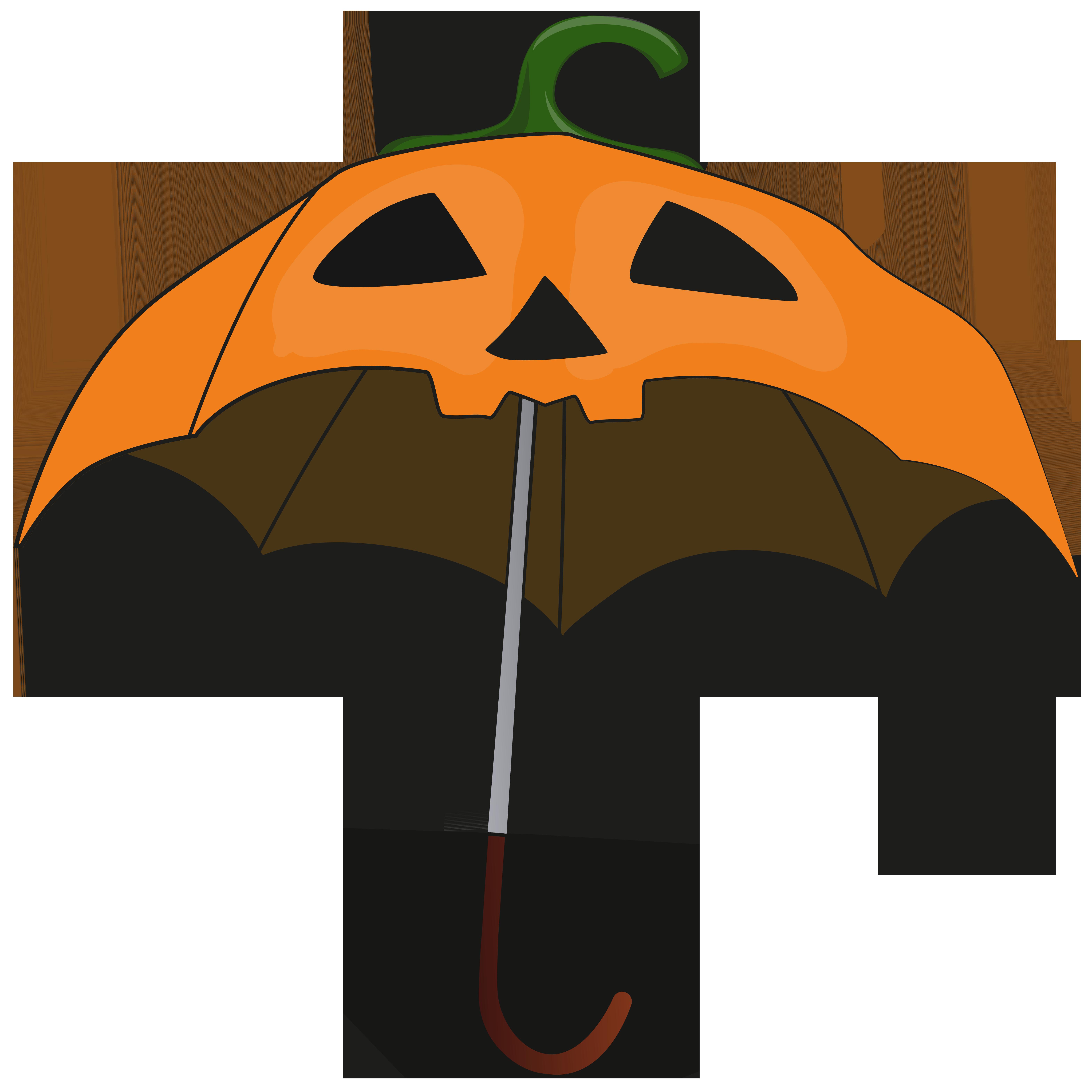 Halloween heart clipart png royalty free library Halloween Pumpkin Umbrella PNG Clip Art Image | Gallery ... png royalty free library