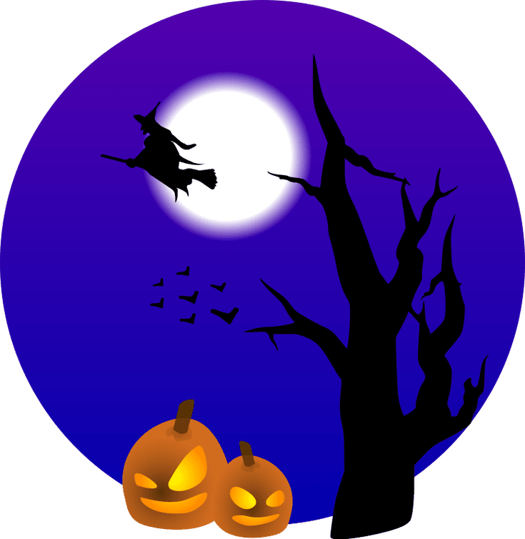 Halloween window clipart png black and white download Witch Silhouette Clip Art at GetDrawings.com | Free for personal use ... png black and white download