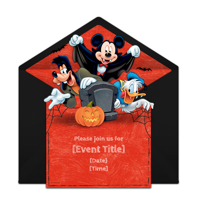 Halloween camping clipart banner freeuse library Free Mickey Mouse Halloween Invitations | Pinterest | Mickey mouse ... banner freeuse library
