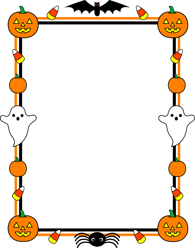 Halloween candy border clipart jpg freeuse download Halloween Border Clip Art and Photos | NiceImages.org jpg freeuse download