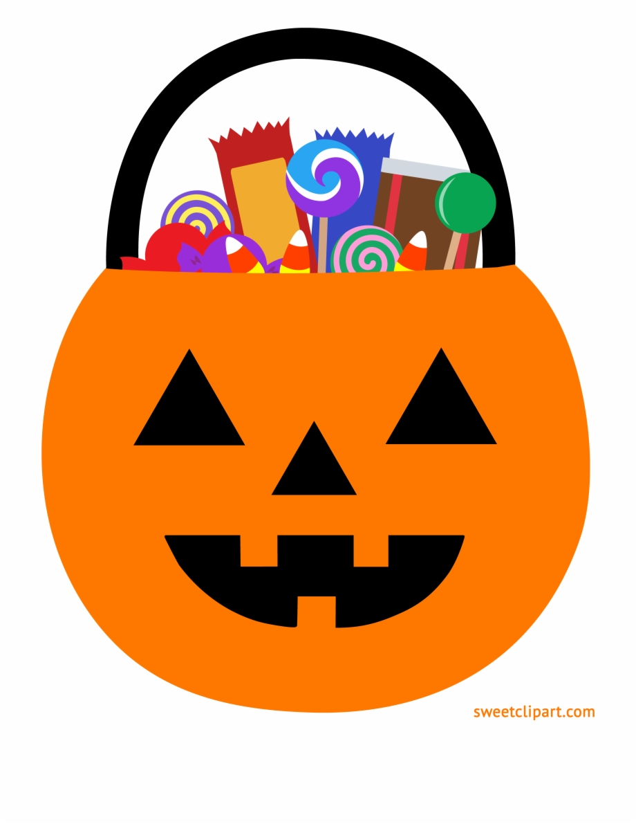 Halloween candy clipart transparent clip free Halloween Pumpkin Pail With Candy Clipart - Pumpkin Candy Bucket ... clip free