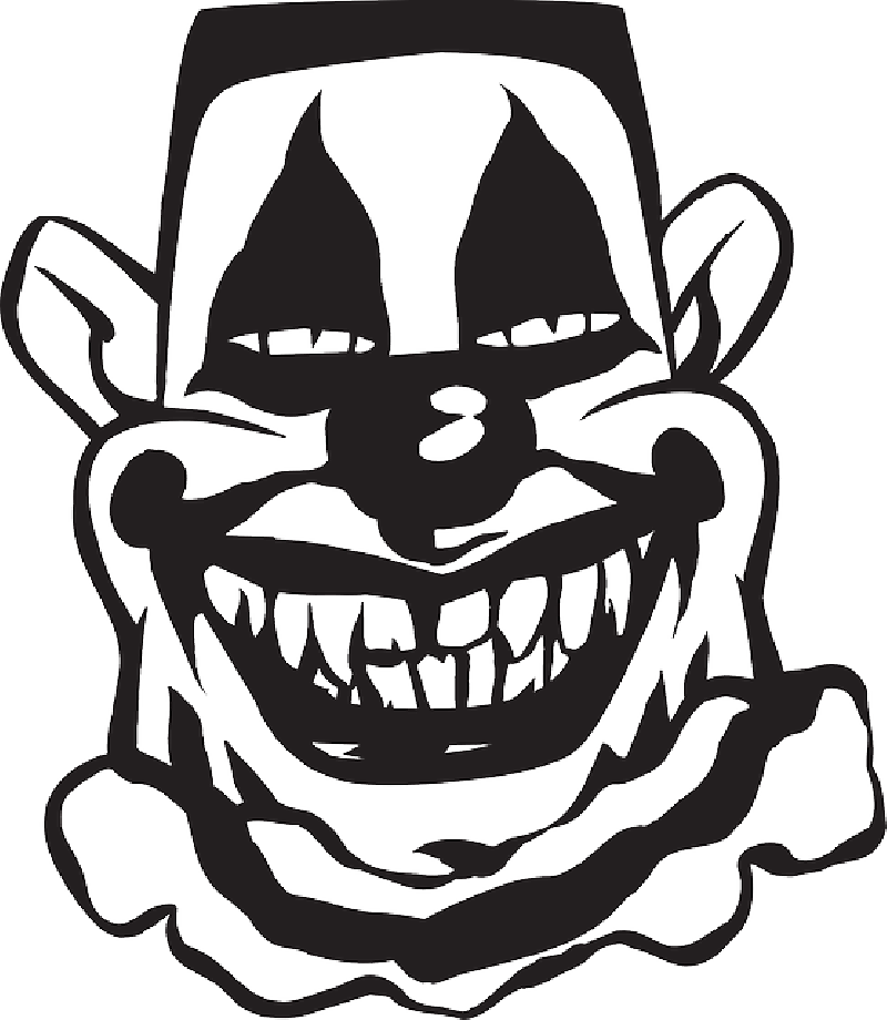 Scary pumpkin clipart black and white image free stock Scary Clown Silhouette at GetDrawings.com | Free for personal use ... image free stock