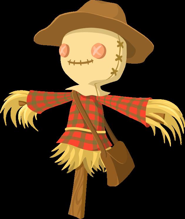 Halloween cartoon characters clipart vector library library Clipart - Cartoon Scarecrow vector library library