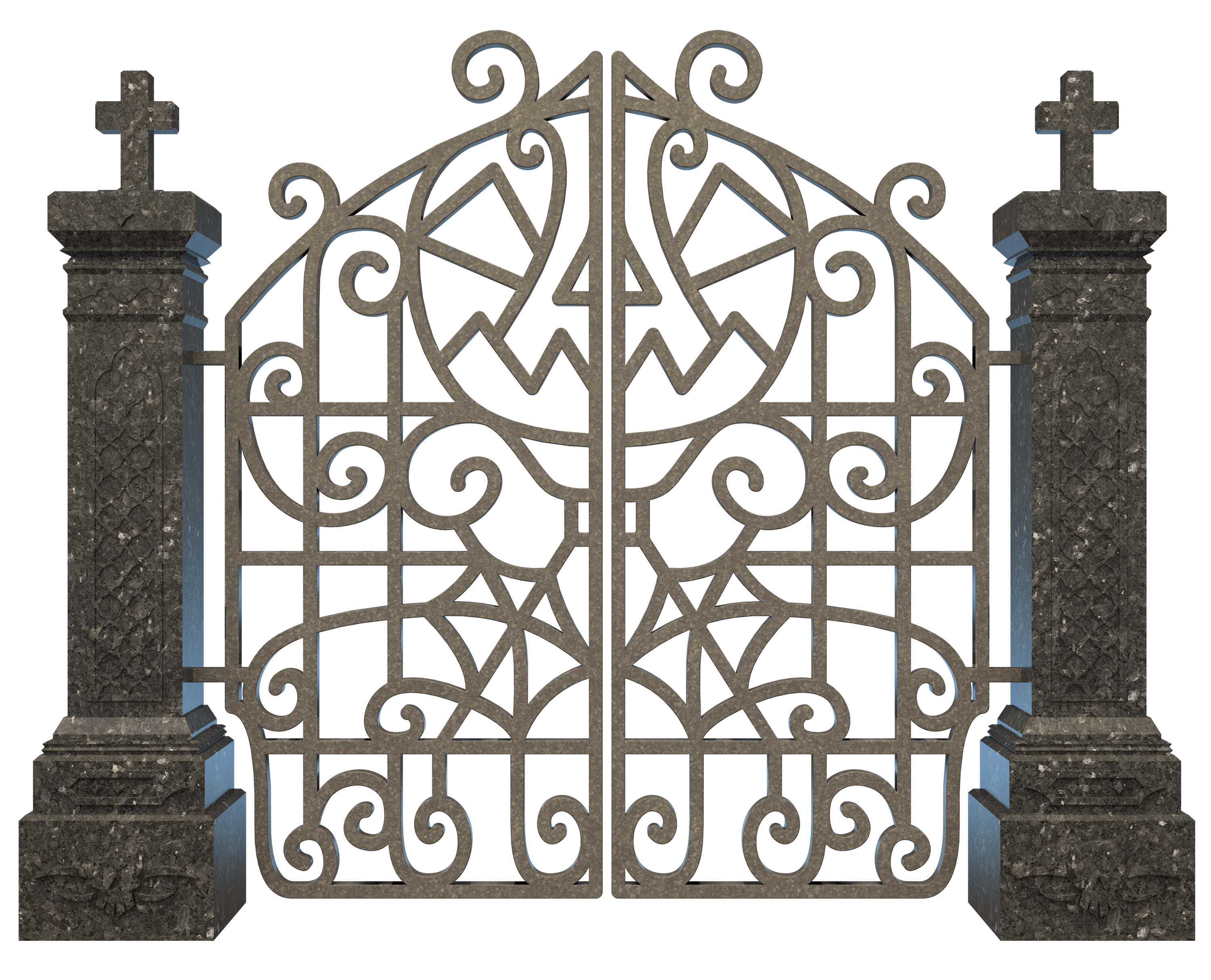 Halloween cemetery clipart picture library download Cemetery Clip art - Halloween Graveyard Gate PNG Clipart Image 3000 ... picture library download