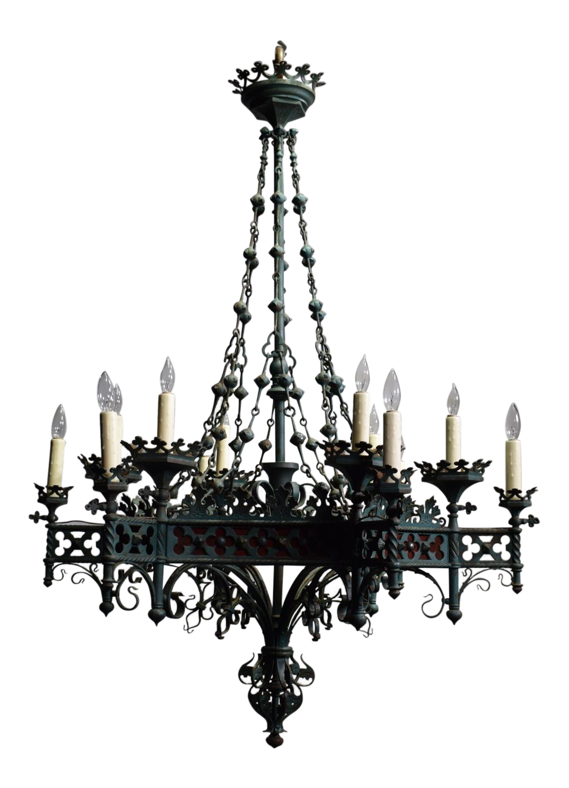 Halloween chandelier clipart svg black and white stock Gothic Chandelier. Hanging Gothic Chandelier Exclusively At Spirit ... svg black and white stock