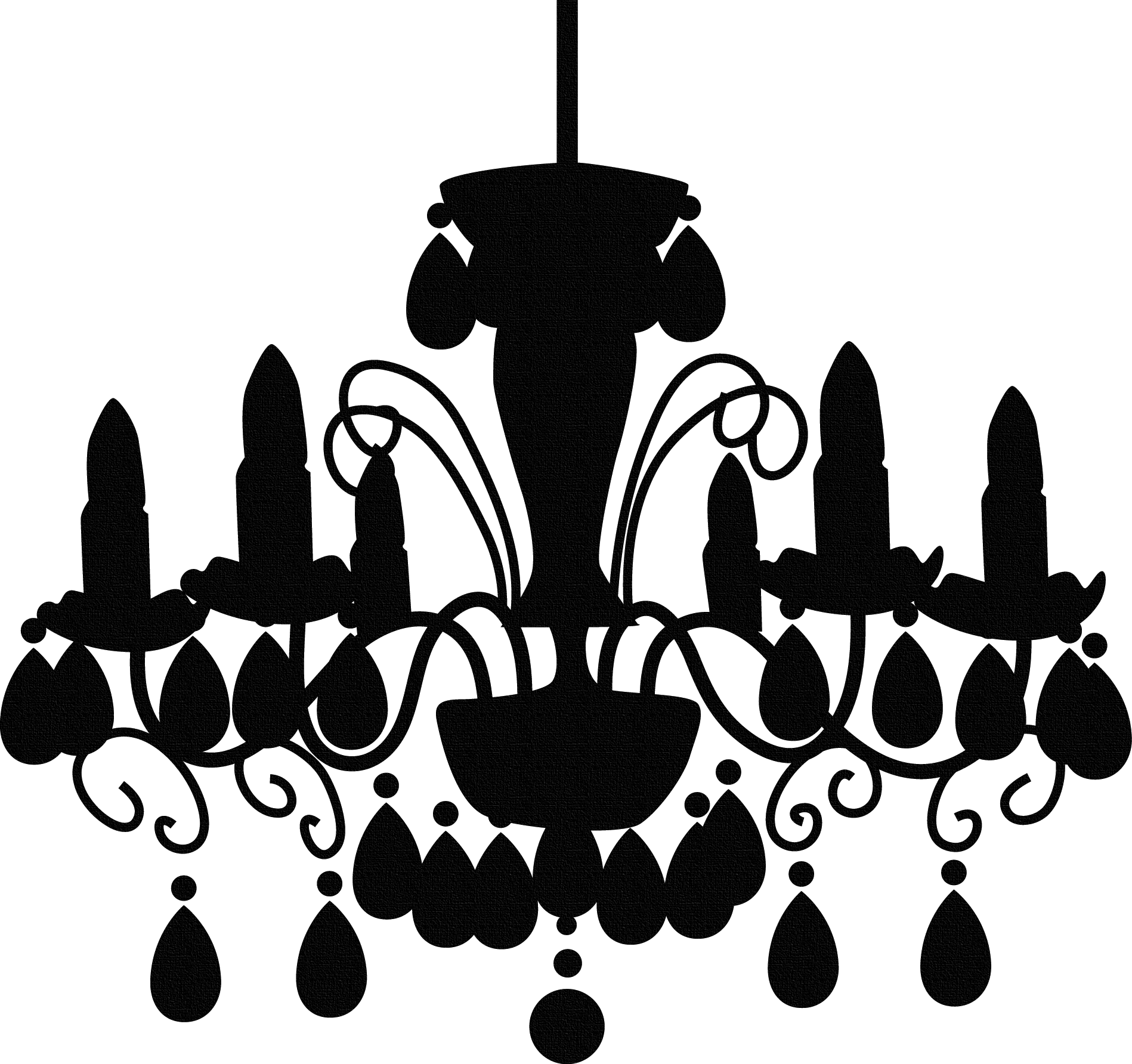 Halloween chandelier clipart clip art black and white library chandelier silhouette | Crucit-KITCHEN and House | Pinterest ... clip art black and white library
