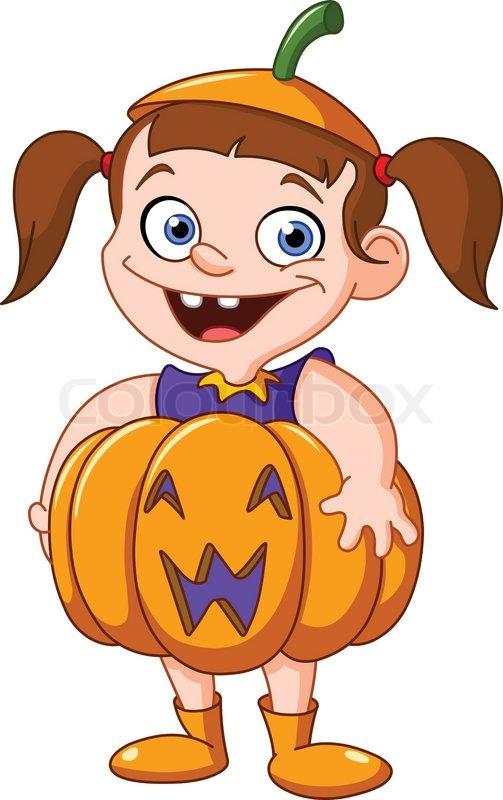 Halloween character pumpkin girl clipart vector library stock Halloween character pumpkin girl clipart - ClipartFest vector library stock