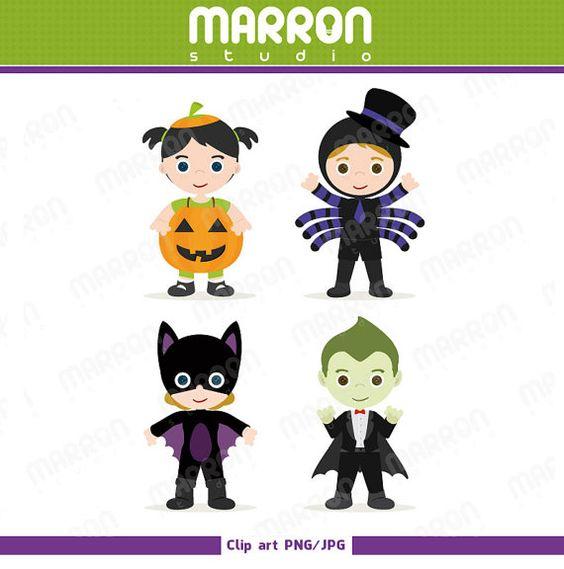 Halloween character pumpkin girl clipart freeuse Halloween Characters Kids costume Pumpkin girl Spider by elmarron ... freeuse