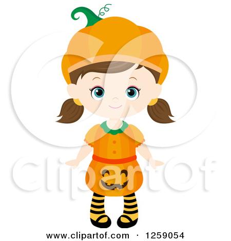 Halloween character pumpkin girl clipart freeuse library Halloween character pumpkin girl clipart - ClipartFest freeuse library