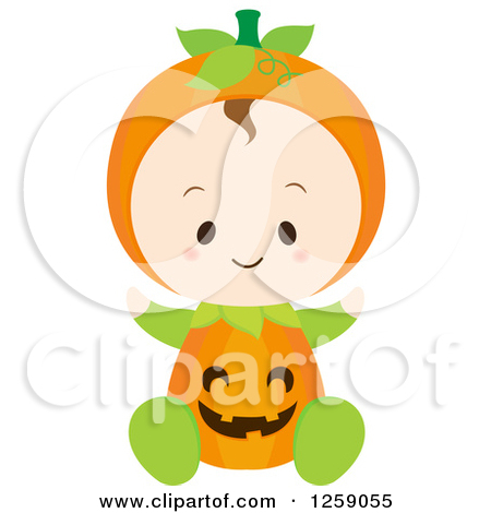 Halloween character pumpkin girl clipart clip freeuse download Clipart of a Baby Girl Sitting in a Pumpkin Halloween Custume ... clip freeuse download