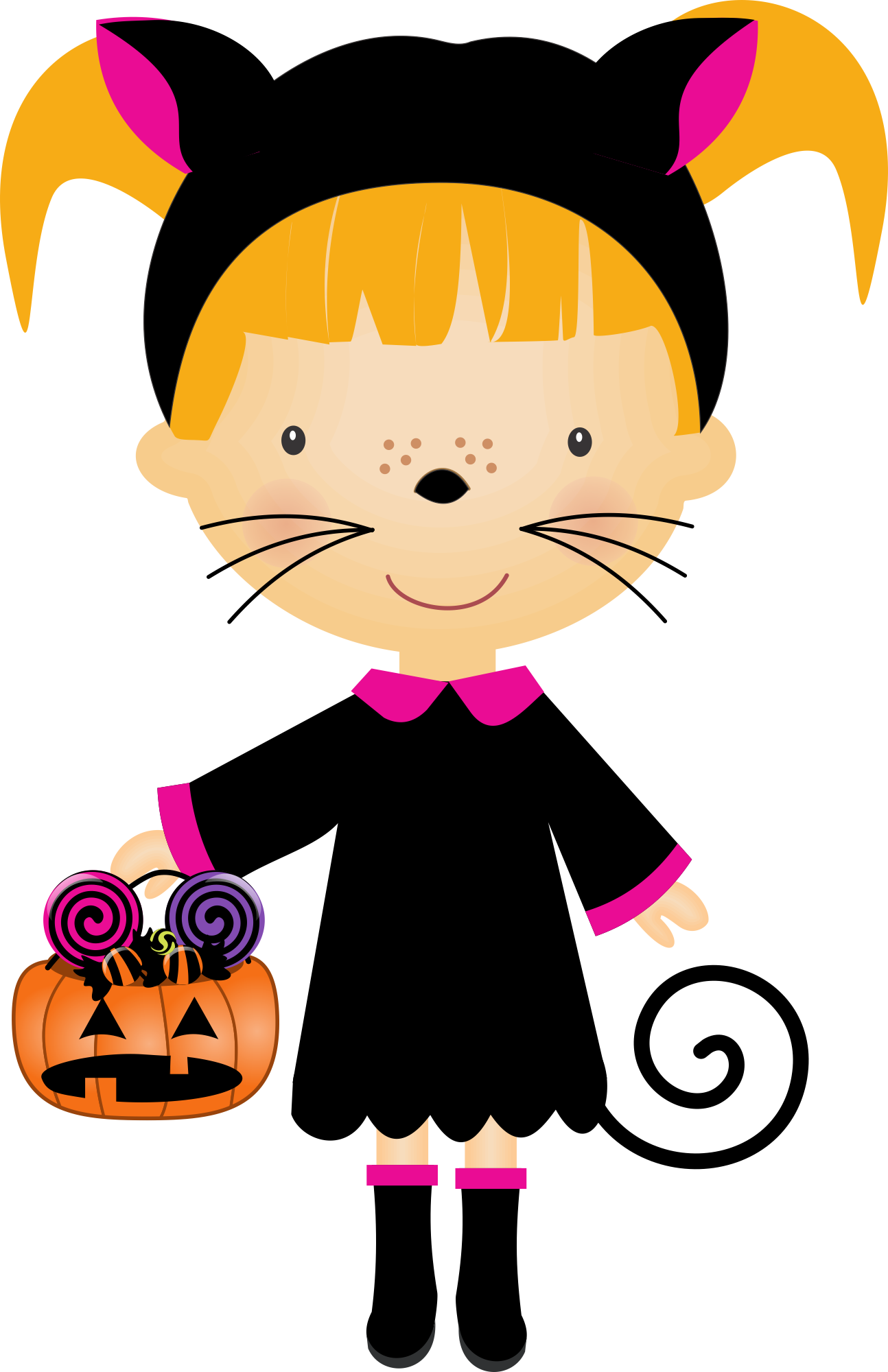 Halloween children in costumes clipart picture download Halloween - Nini Scrap_Halloween Kids_03.png - Minus | felt ... picture download