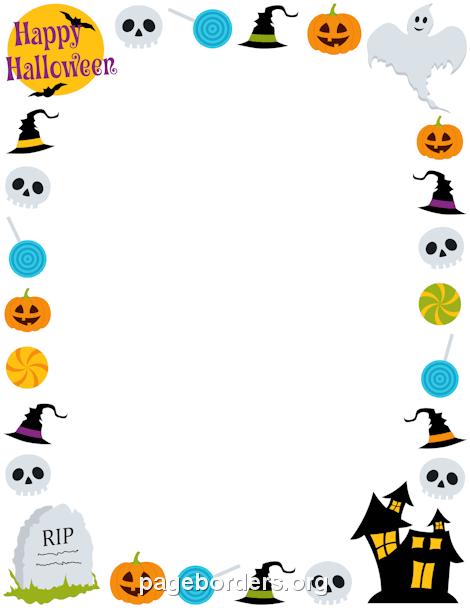Halloween clip art borders clipart royalty free library Free Halloween Borders: Clip Art, Page Borders, and Vector Graphics clipart royalty free library