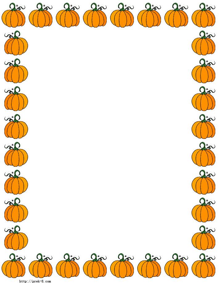 Halloween clip art borders jpg transparent stock Pumpkin Border Clip Art & Pumpkin Border Clip Art Clip Art Images ... jpg transparent stock