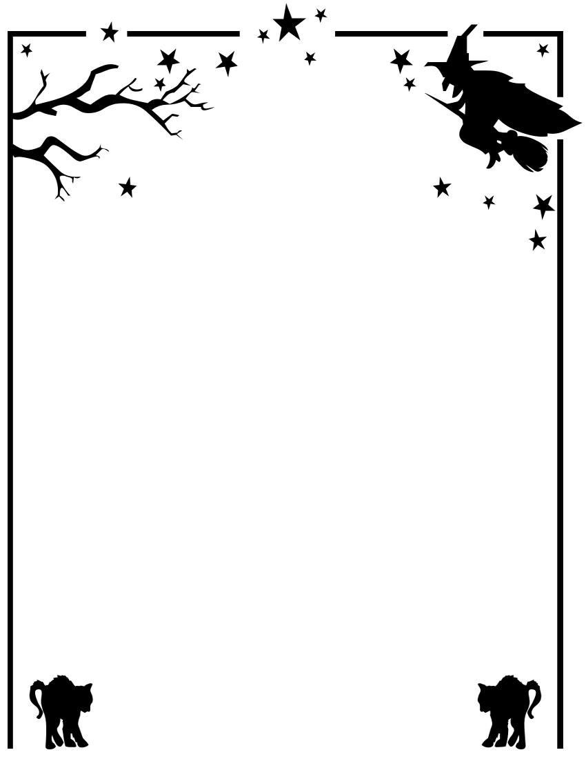 Halloween clip art borders picture freeuse library Halloween Borders Clipart - Clipart Kid picture freeuse library