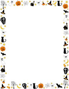 Halloween clip art borders svg library Halloween Border Clipart - Clipart Kid svg library