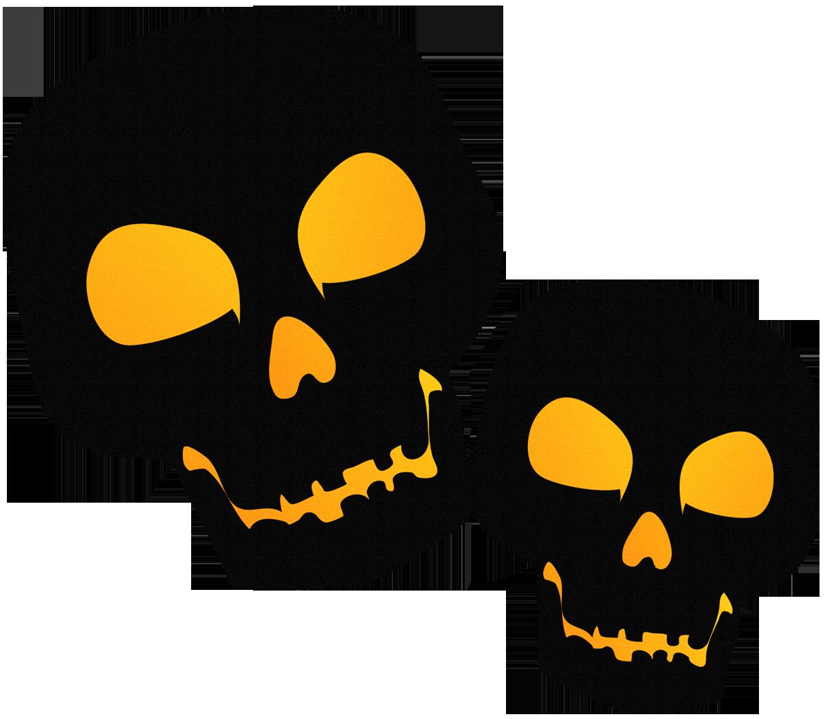 Halloween clipart black vector free download Large Black PNG Halloween Skulsl Clipart | Gallery Yopriceville ... vector free download