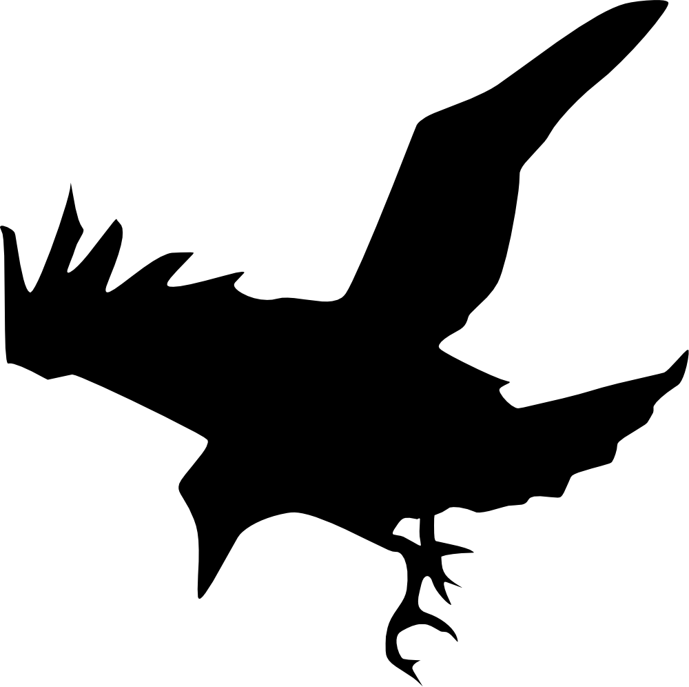 Halloween clipart crow image black and white download Raven Silhouette Printable at GetDrawings.com | Free for personal ... image black and white download