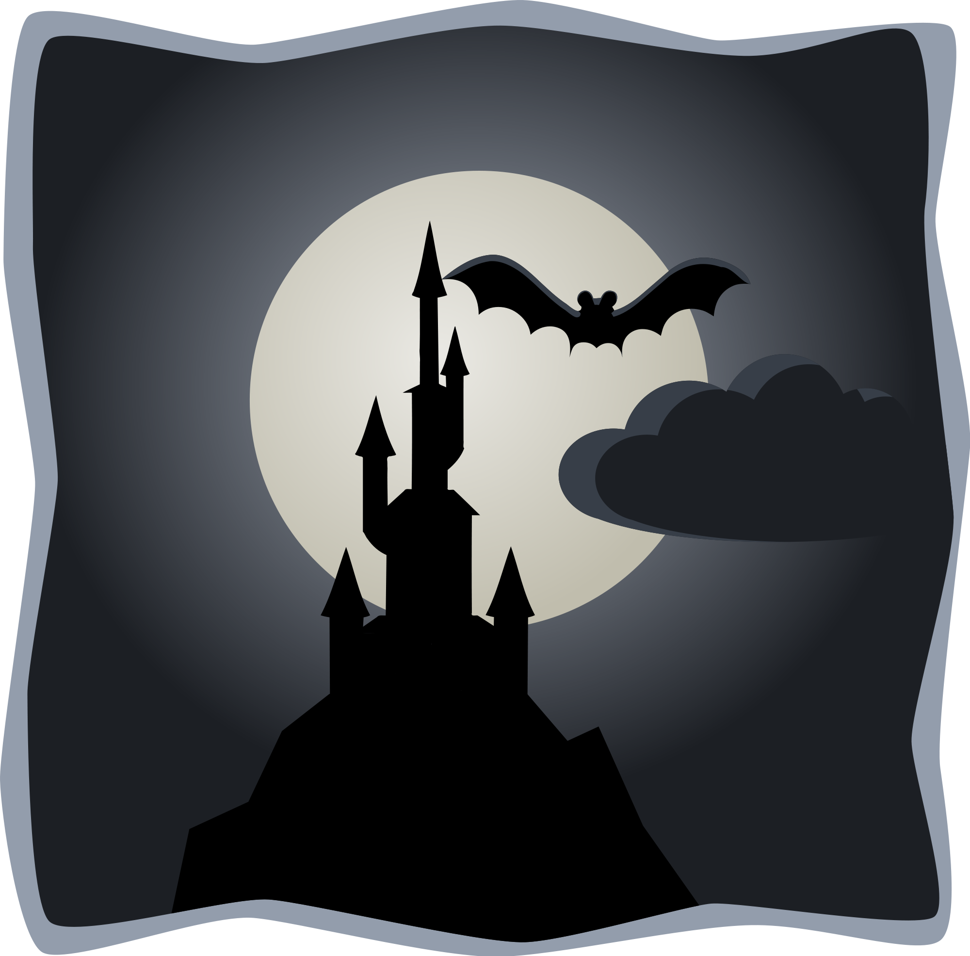 Halloween clipart full moon clip art transparent download File:Spooky castle in full moon.svg - Wikimedia Commons clip art transparent download
