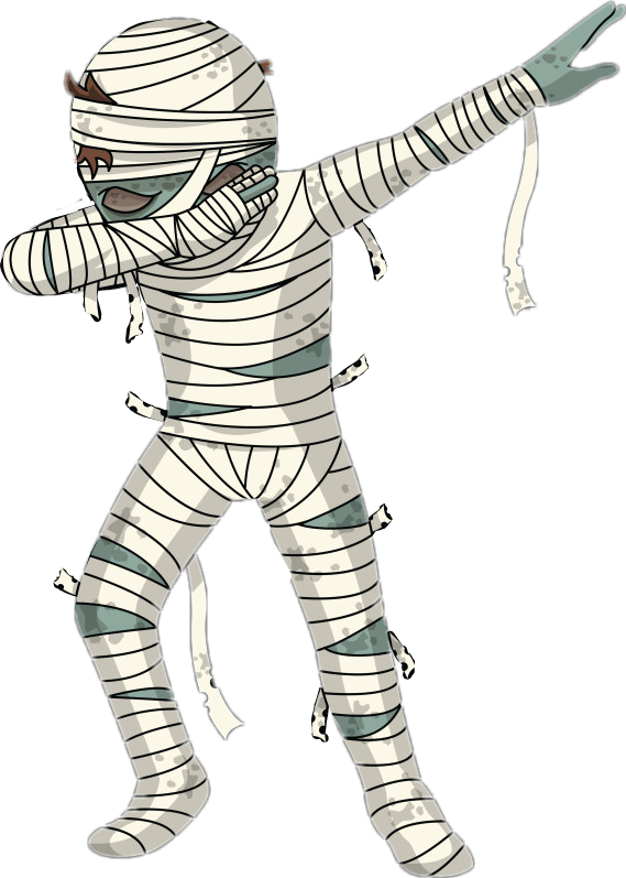 Halloween clipart mummy graphic library stock ftestickers mummy dab ghost halloween... graphic library stock