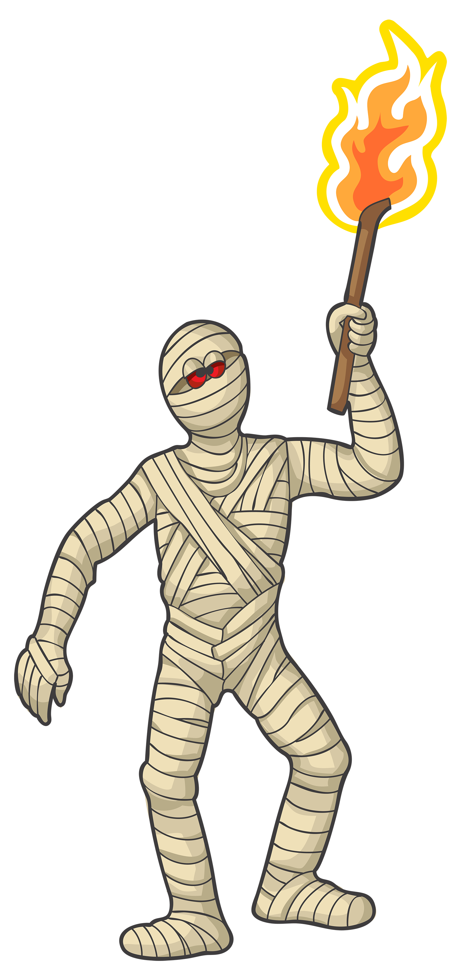 Halloween mummy clipart clipart black and white stock Halloween Mummy PNG Clipart Image | Gallery Yopriceville - High ... clipart black and white stock