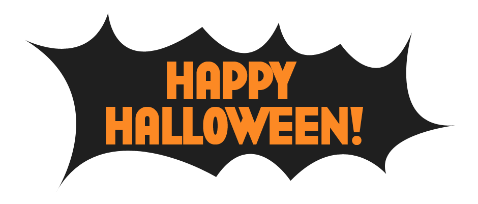 Happy halloween clipart banner image black and white library Happy Halloween Black Background Transparent image black and white library