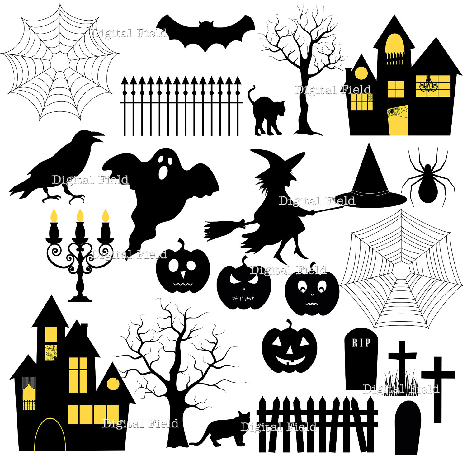 Halloween clipart printables graphic transparent library 1000+ images about silhouette on Pinterest | Trees, Vector stock ... graphic transparent library