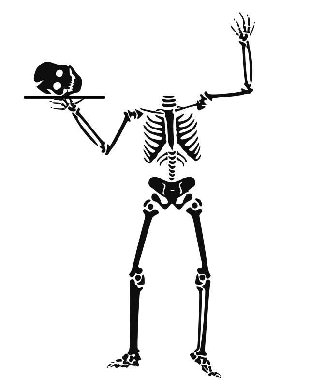 Halloween clipart skeletons black and white clip art library download Clipart - halloween 0017 clip art library download
