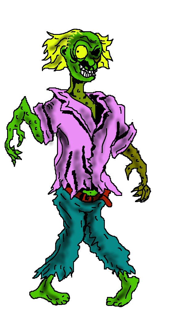 Zombie Halloween Clip Art Image picture freeuse stock