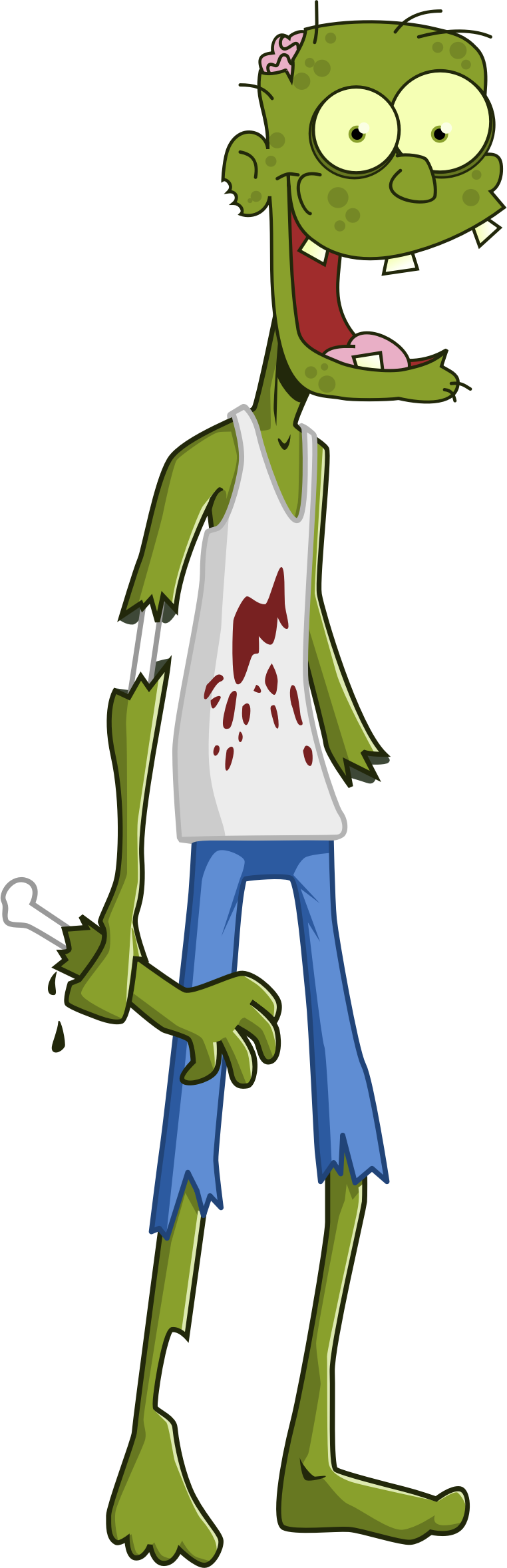 Clipart - Cartoon Zombie image library library