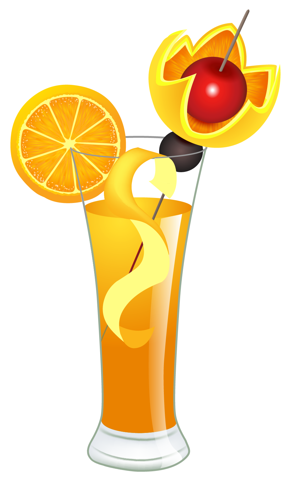 Halloween drinks clipart clip library library Orange Cocktail PNG Clipart Picture | Gallery Yopriceville - High ... clip library library