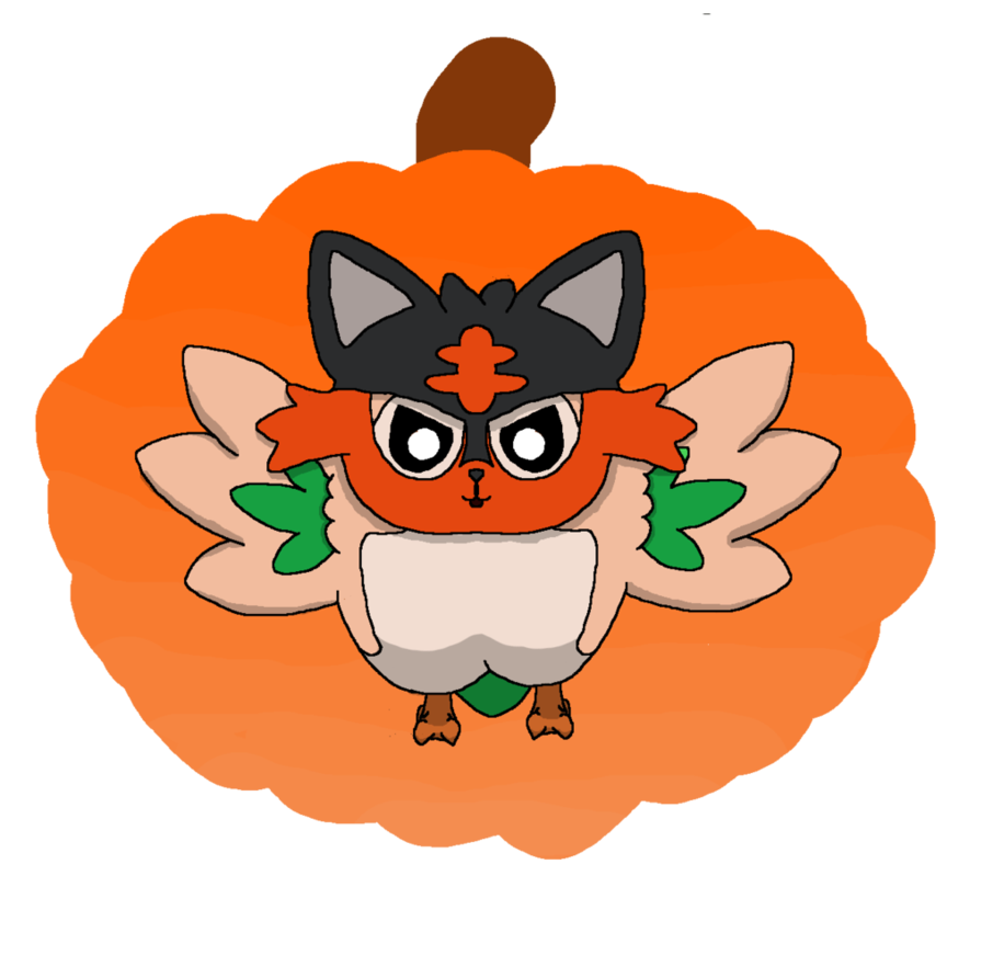 Halloween costume clipart png picture transparent library Rowlet in his Halloween costume! by Piksel-Art on DeviantArt picture transparent library