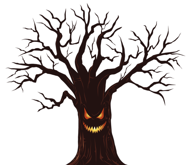 Halloween creepy clipart svg royalty free Spooky Tree Silhouette at GetDrawings.com | Free for personal use ... svg royalty free