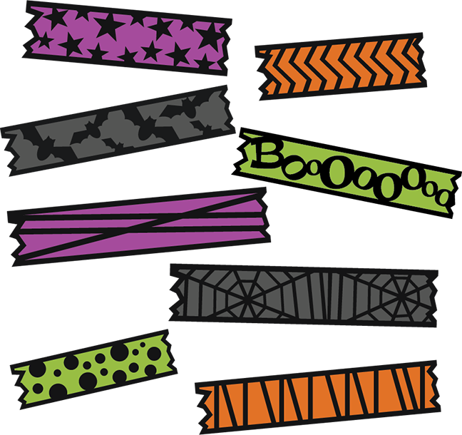 Halloween digital clipart clip library download Halloween Washi Tape SVG cut file for electronic cutting machines ... clip library download