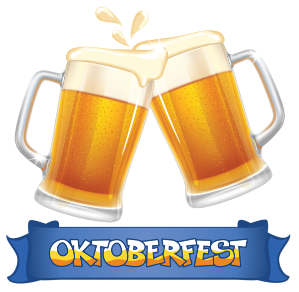 Thanksgiving cocktail clipart picture transparent Oktoberfest Blue Banner and Beers PNG Clipart Image | cocina ... picture transparent