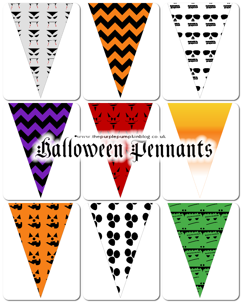 Halloween party banner clipart jpg free Halloween Pennants | Free Printables for #CraftyOctober jpg free