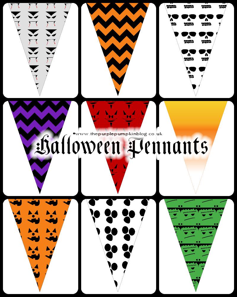 Halloween flag pennant clipart jpg royalty free library Halloween Pennants | Free Printables for #CraftyOctober jpg royalty free library