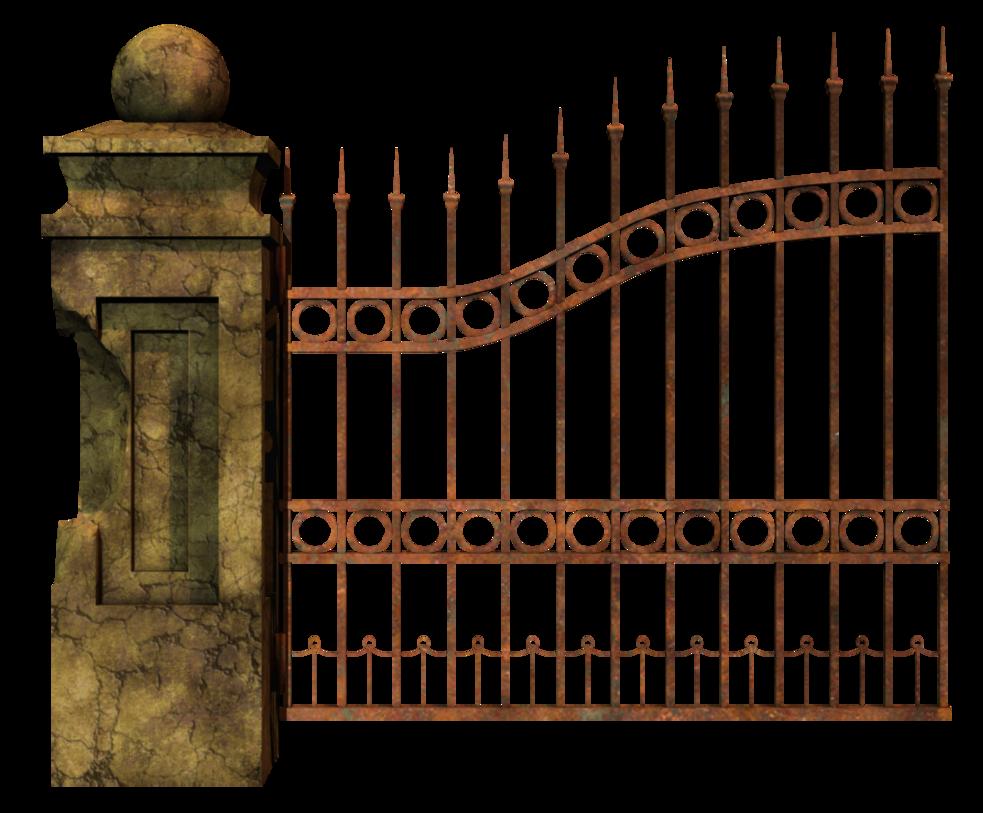 Halloween picket fence clipart svg freeuse download Graveyard Gate Left 2 PNG Stock | Matte Painting Stocks | Pinterest ... svg freeuse download