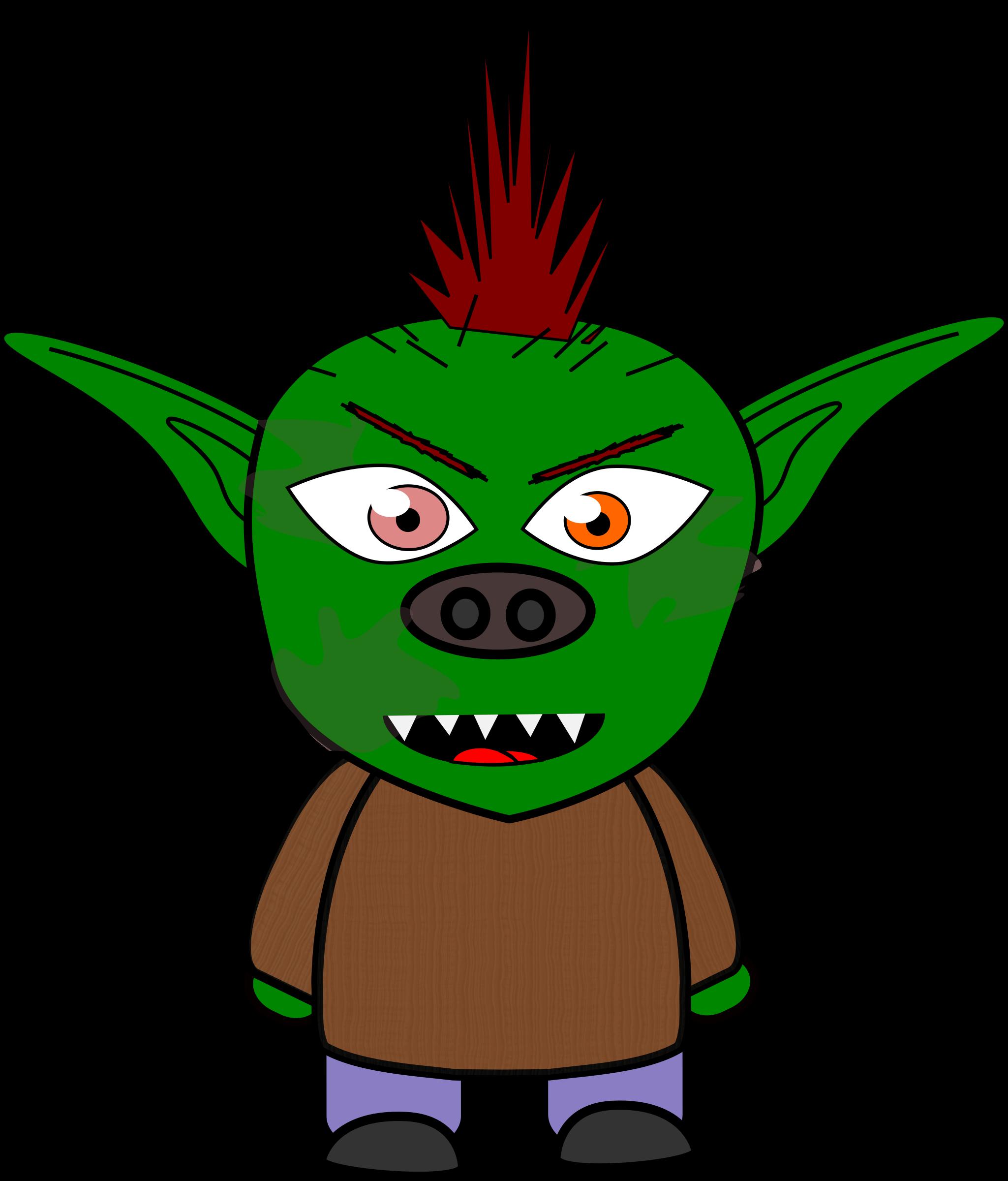 Halloween goblins clipart vector free download Clipart - Chibi Goblin 1 vector free download