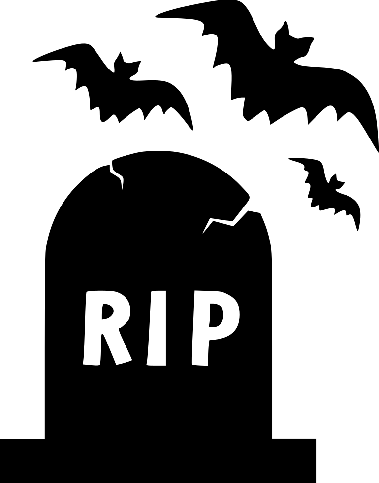 Halloween gravestone clipart png freeuse library Halloween Rip Grave Bats Night Graveyard Svg Png Icon Free Download ... png freeuse library