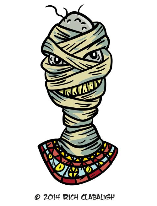 Halloween mummy clipart svg transparent Halloween Monster Face 20 – The Mummy - The Graveyard Gang svg transparent