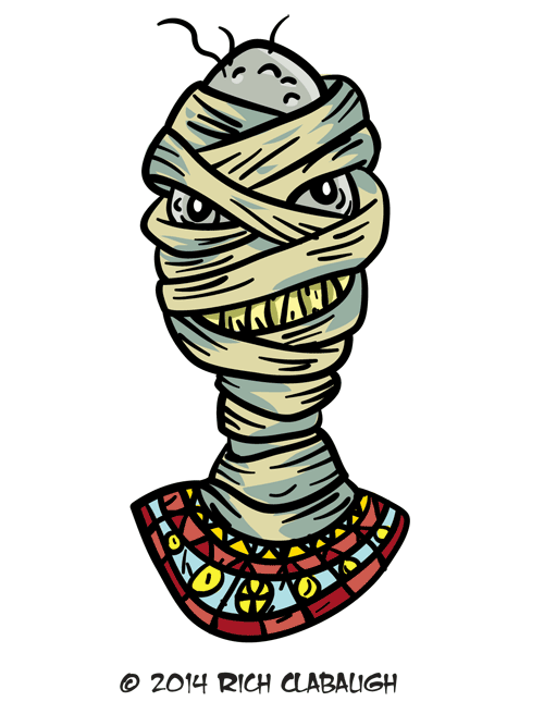 Halloween graveyard clipart png transparent stock Halloween Monster Face 20 – The Mummy - The Graveyard Gang png transparent stock