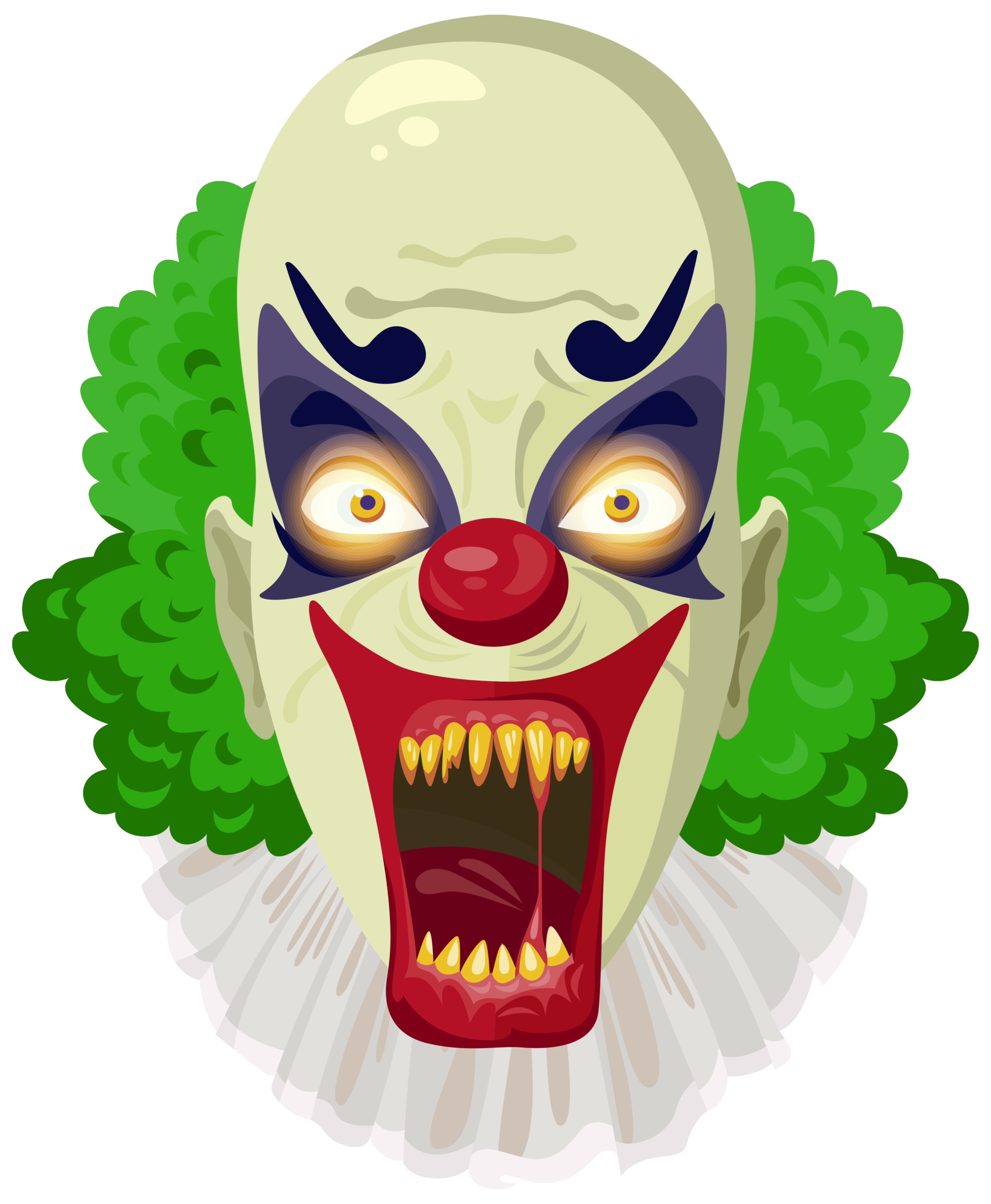 Halloween green clipart clipart royalty free stock Scary Clown Green PNG Clipart Image | Gallery Yopriceville - High ... clipart royalty free stock