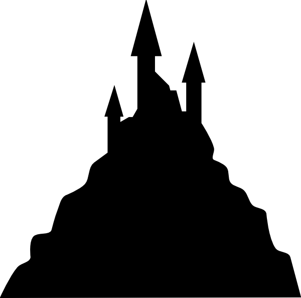 Haunted house silhouette clipart png stock Creepy House Silhouette at GetDrawings.com | Free for personal use ... png stock