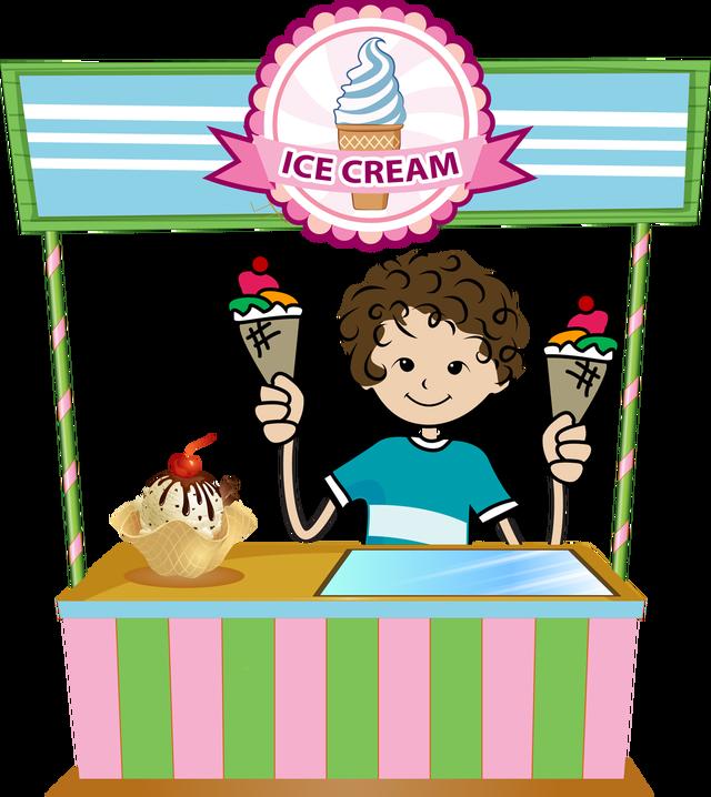 Halloween ice cream clipart banner library stock Ice Cream Stand Clipart banner library stock