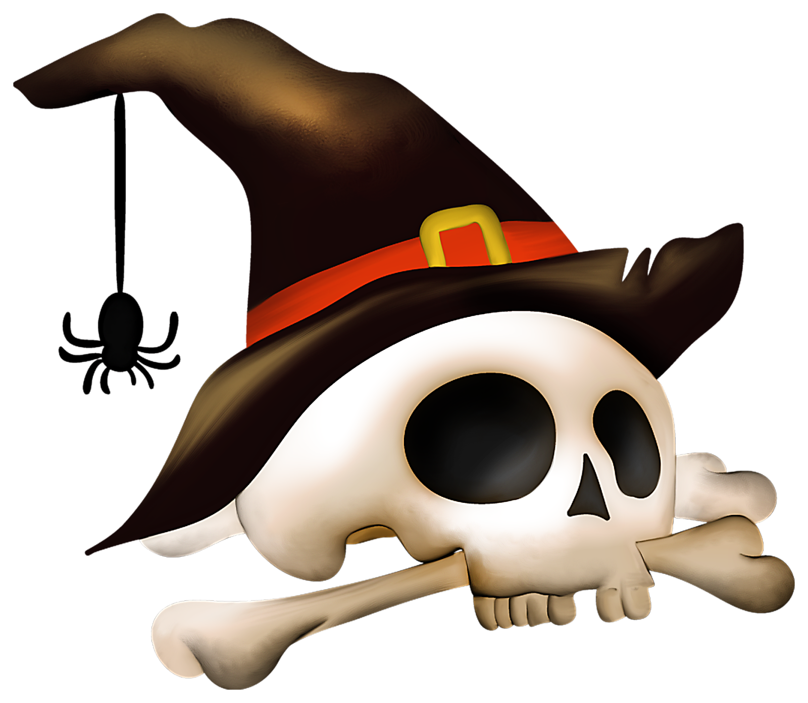Halloween witch head clipart banner black and white library Halloween skull png #26476 - Free Icons and PNG Backgrounds banner black and white library