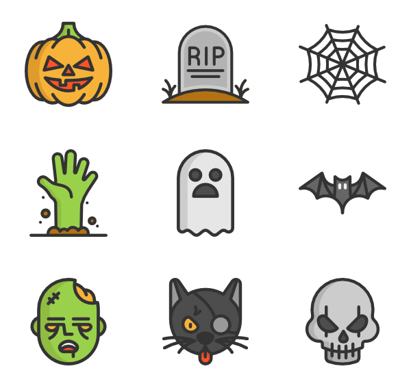 Halloween icons clipart image freeuse download Halloween Png & Halloween Png Transparent Images #1146 - PNGio image freeuse download