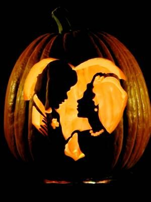 Halloween jack o lantern bride and groom clipart vector free bride and groom pumpkin carving templates - Google Search ... vector free