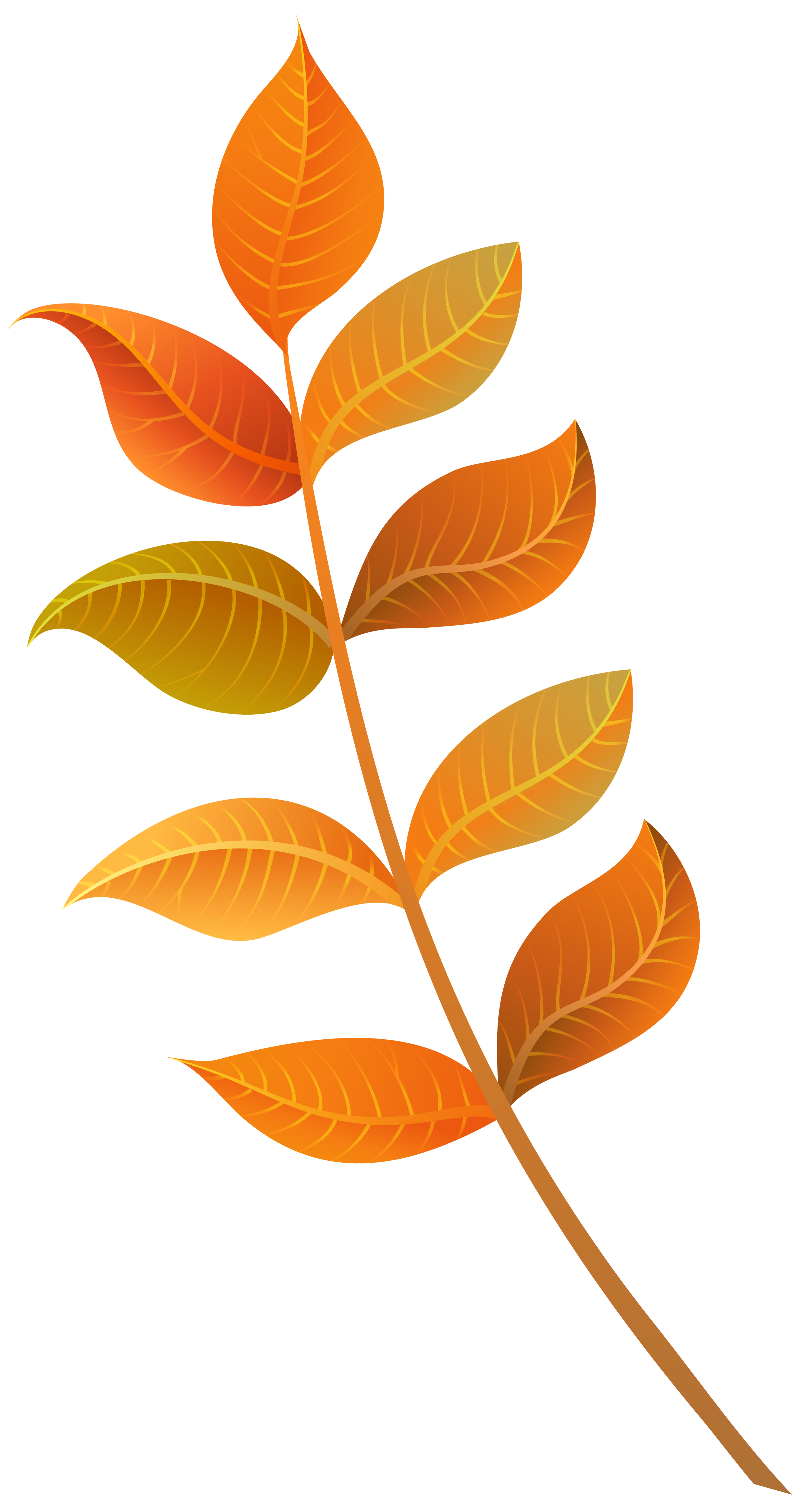 Halloween leaves clipart clipart freeuse library Fall Decorative Leaves PNG Clipart Image | Gallery Yopriceville ... clipart freeuse library