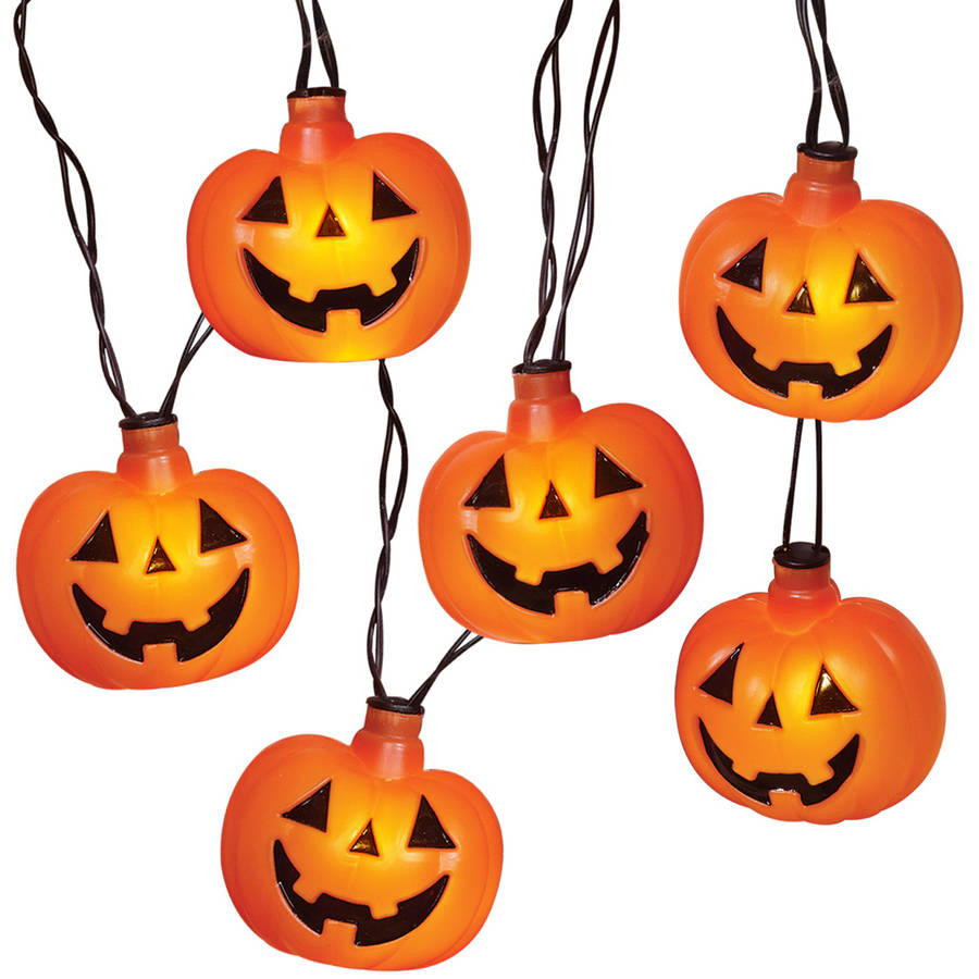 Halloween lights clipart image black and white Details about Light-up Battery Operated Halloween Pumpkins - Pumpkin Light  Up Fancy Dress image black and white