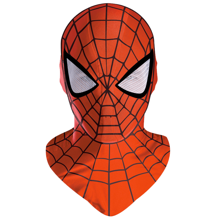 Halloween mask clipart banner black and white Spiderman Mask transparent PNG - StickPNG banner black and white